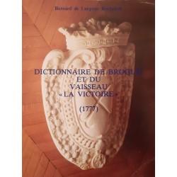 """Dictionnaire de Broglie et du vaisseau """"La Victoire"""" (1777)   Bernard de Larquier Rochefort"""