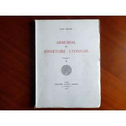 Armorial et Répertoire Lyonnais (6 volumes)  Jean TRICOU