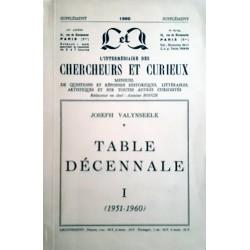 I.C.C. Table décennale I 1951-1960 Joseph Valynseele