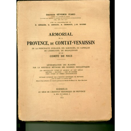 Armorial de la Provence Dr Séverin Icard