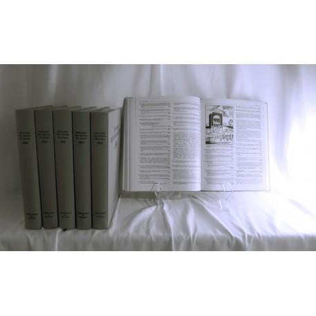 Annuaire des Ventes de Livres 6 années 1984-1989