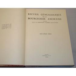 Recueil généalogique de la bourgeoisie ancienne 2 volumes + cd-rom A. Delavenne