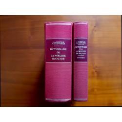 Dictionnaire de la Noblesse Française E. de Sereville et F. de Simon 2 volumes reliés