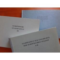 Stammtafeln zur Geschichte der Europäischen staaten  4 tomes en 3 volumes