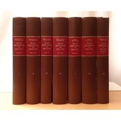 Jougla de Morenas Grand Armorial de France Relié Complet 7 volumes