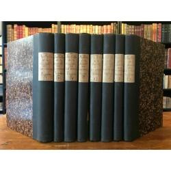 BIBLIOPHILIE. LE VIEUX PAPIER. N° 17 à 64 EN 8 VOL. ILLUSTRATIONS. PLANCHES