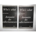 Who's what Annuaire des Collectionneurs