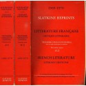 Slatkine Reprints Catalogue 1969-1970 2 tomes