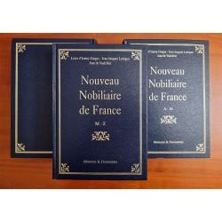 Nouveau Nobiliaire de France 3 volumes + cd-rom L. d'Izarny-Gargas - J.-J. Lartigue - J. de Vaulchier