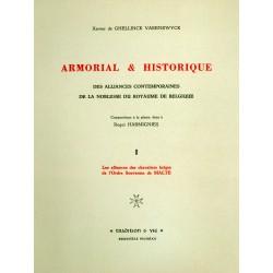 Armorial & Historique des Alliances Noblesse Belgique (4 vol)