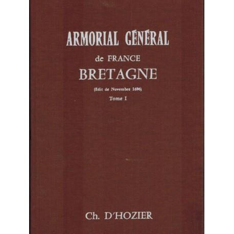 Charles d'Hozier - Armorial Général de France Bretagne (Edit de 1696) - 2 volumes
