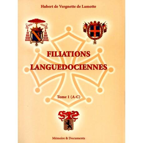 Filiations languedociennes  3 volumes H. de Vergnette de Lamotte