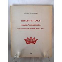 Princes et ducs Français Contemporains  D. Labarre de Raillicourt